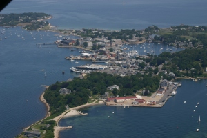 Arial view of Woods Hole