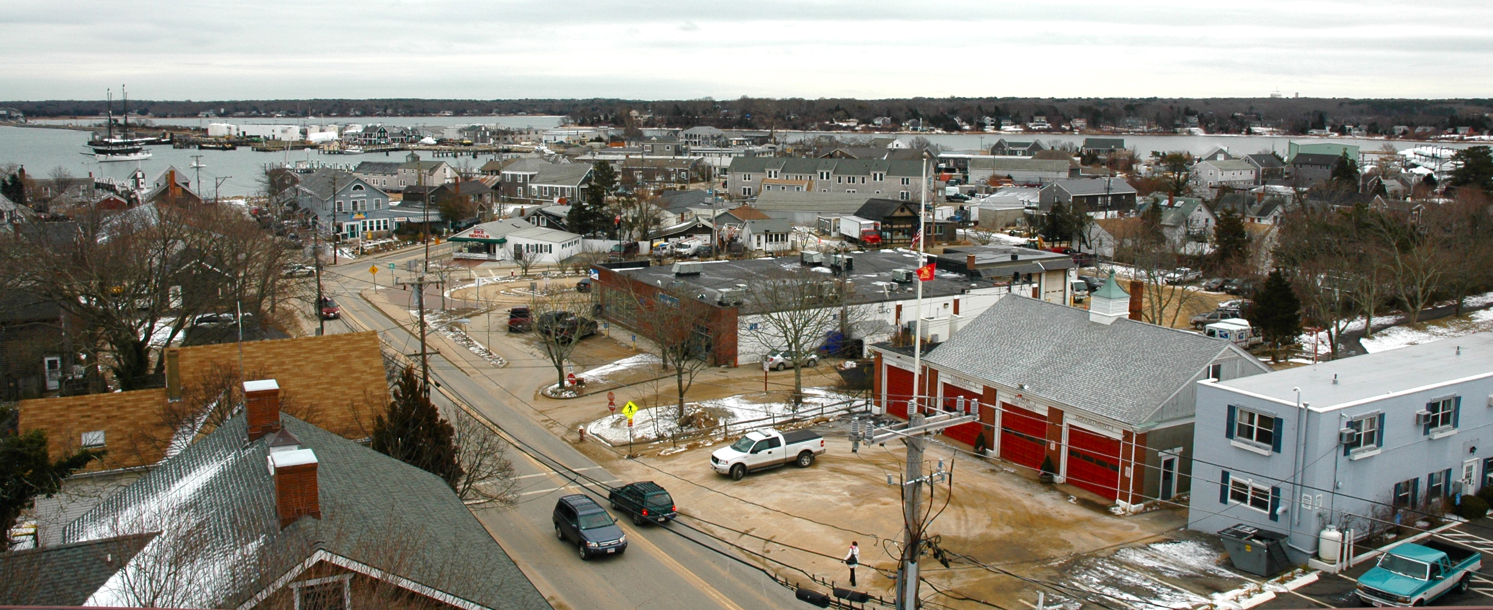 Vineyard Haven in January, where you will dock when you come to Chilifest.
