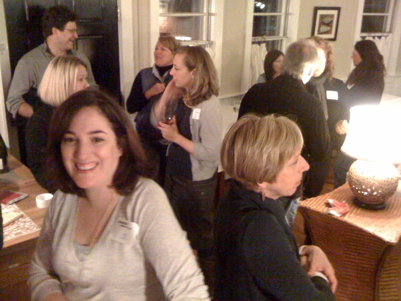 Ice breaker wine and cheese on Friday night was a hit with writers.