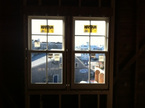 Woods Hole Inn windows installed, December 2011