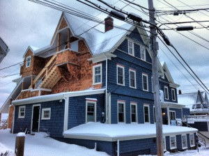 Woods Hole Inn in winter