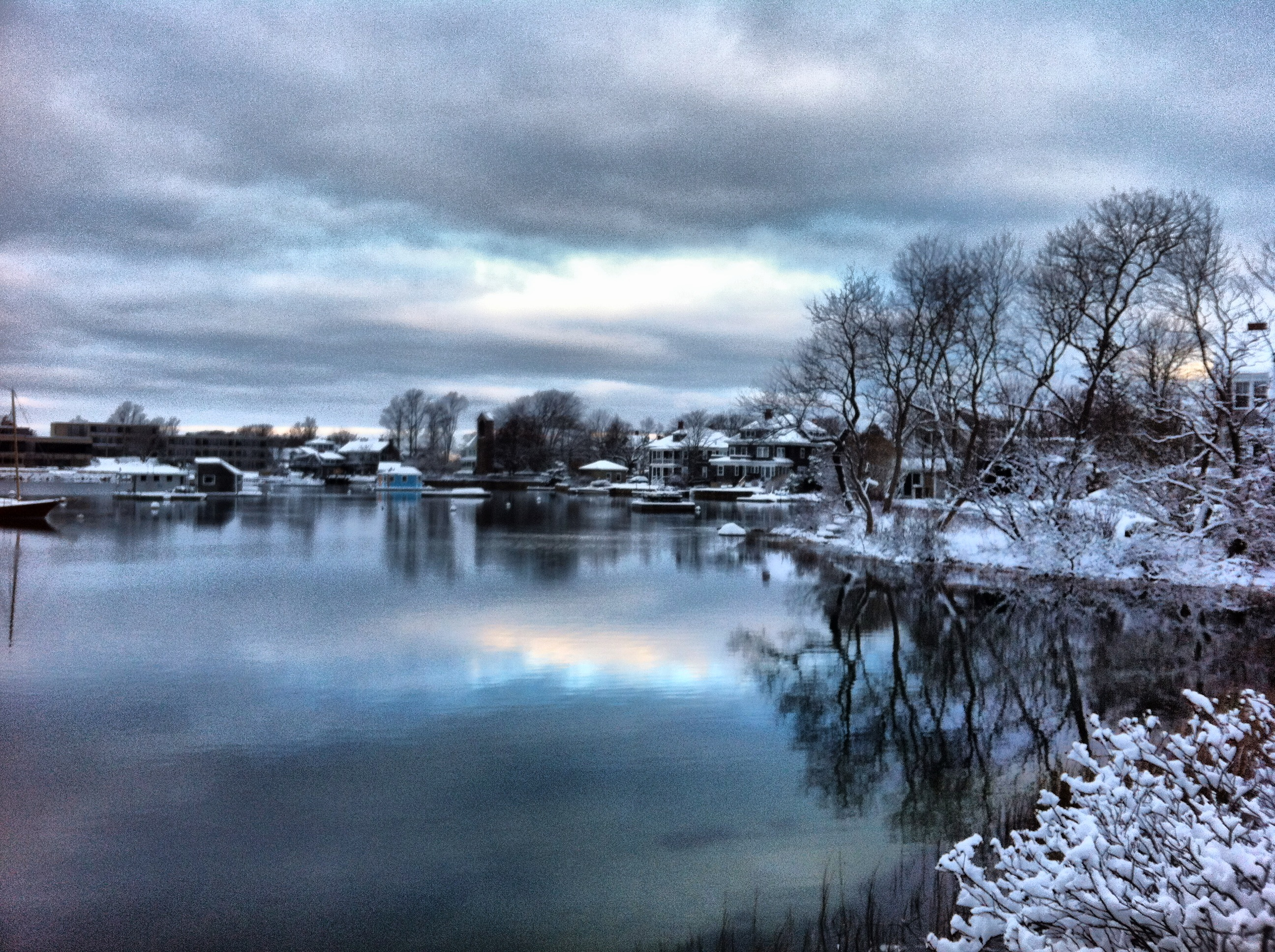 Light over the Eel Pond in Woods Hole, winter 2012