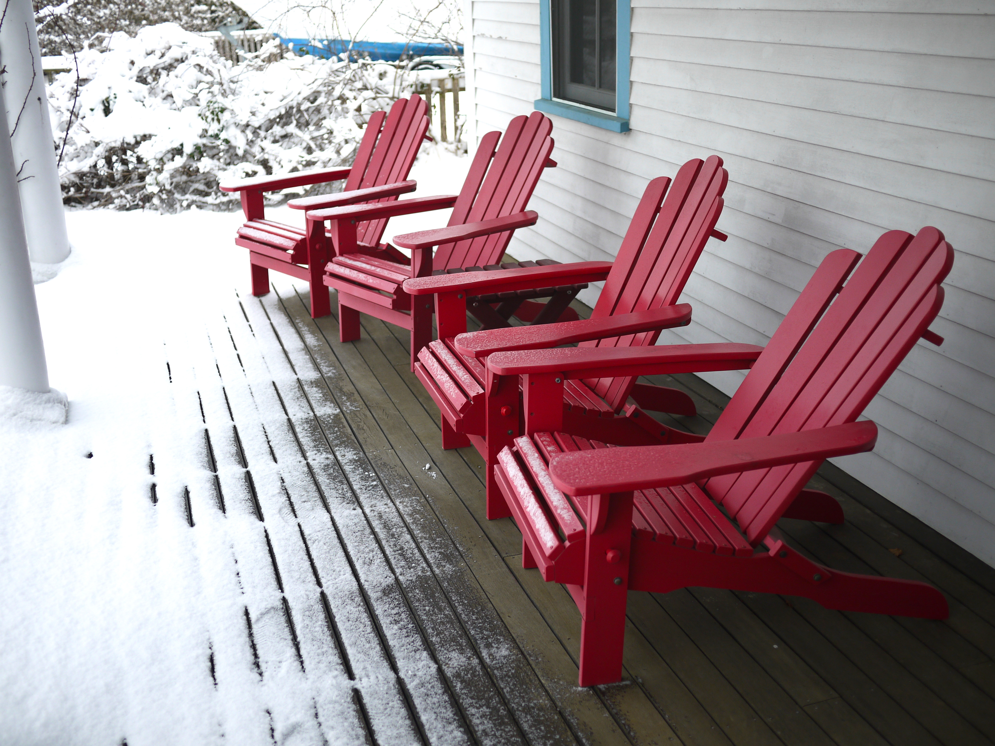 Woods Hole porch in winter