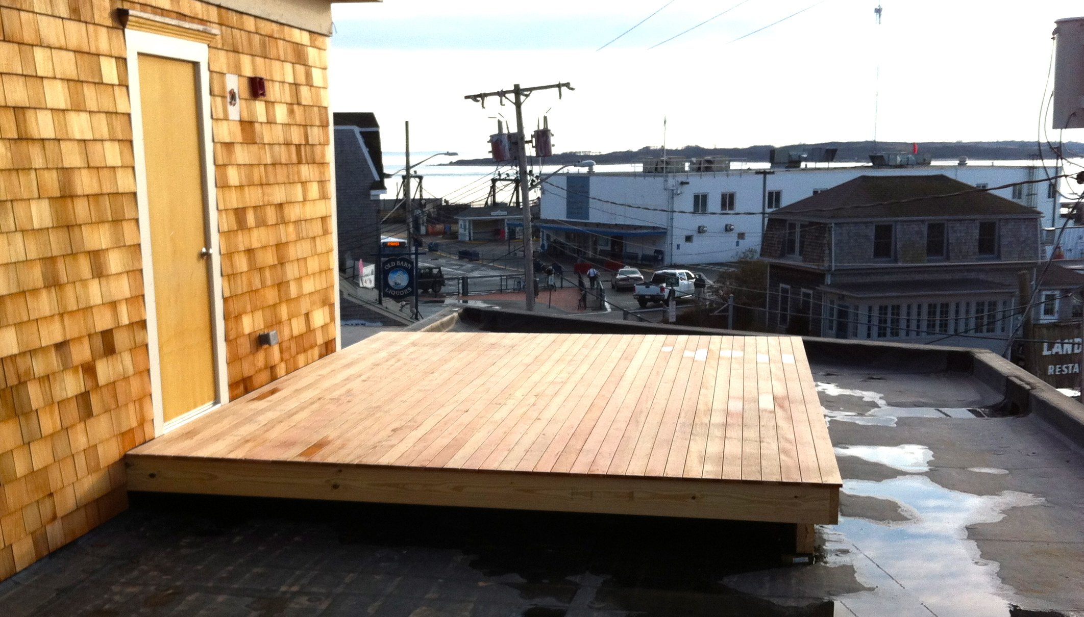 Deck under construction at the Woods Hole Inn.