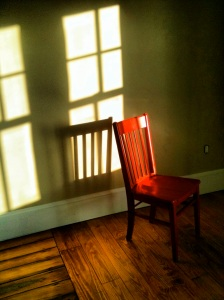 Red Chair before making it's journey from the Woods Hole Inn to Provincetown and back.