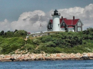 Nobska Light from the water on an incredible summer's day.