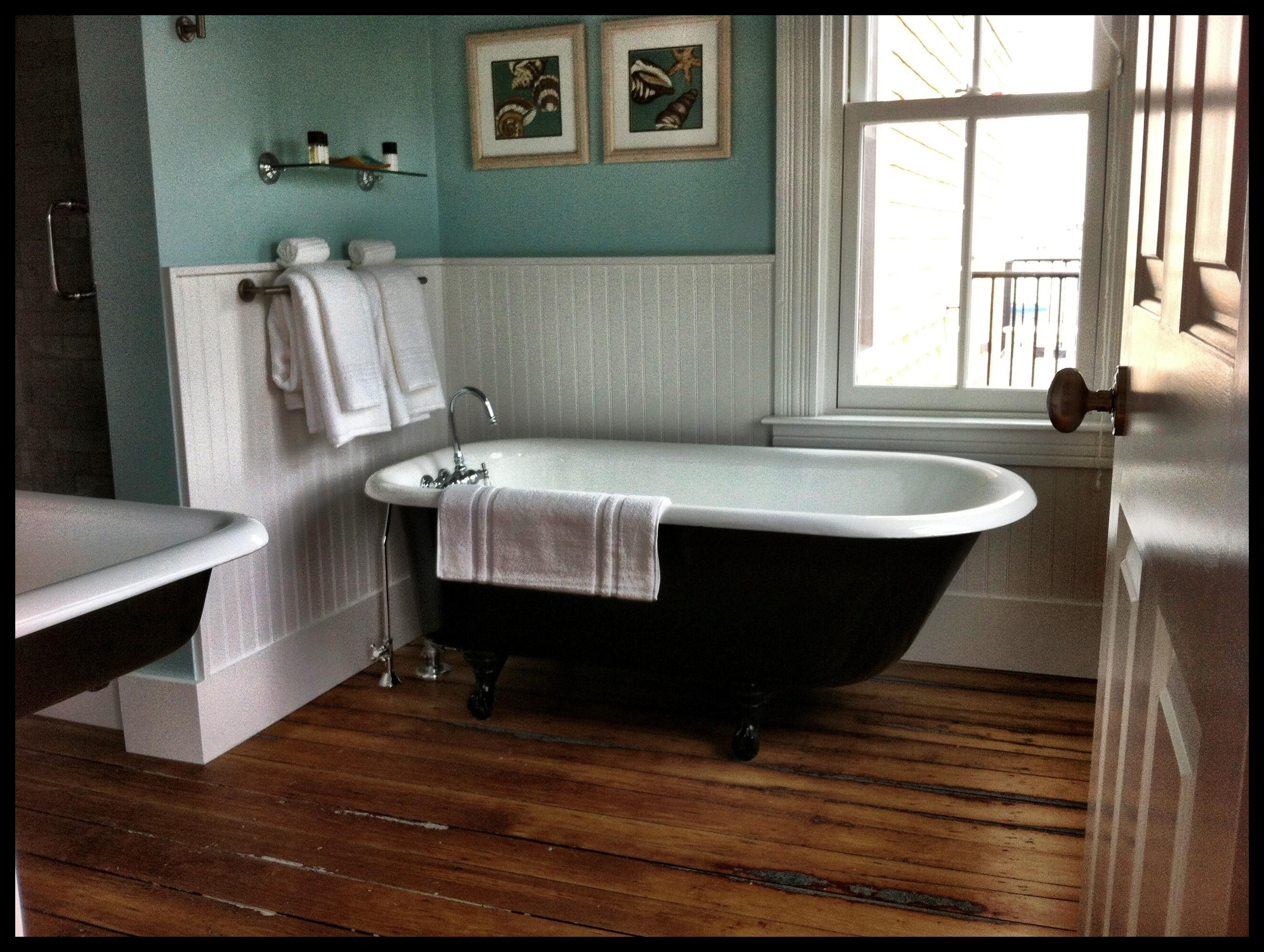 The ultimate Cape Cod bathtub, at the Woods Hole Inn.
