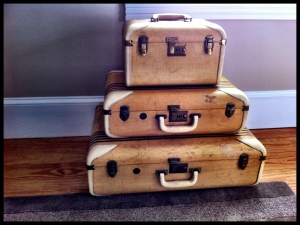 Suitcases at the Woods Hole Inn Cape Cod