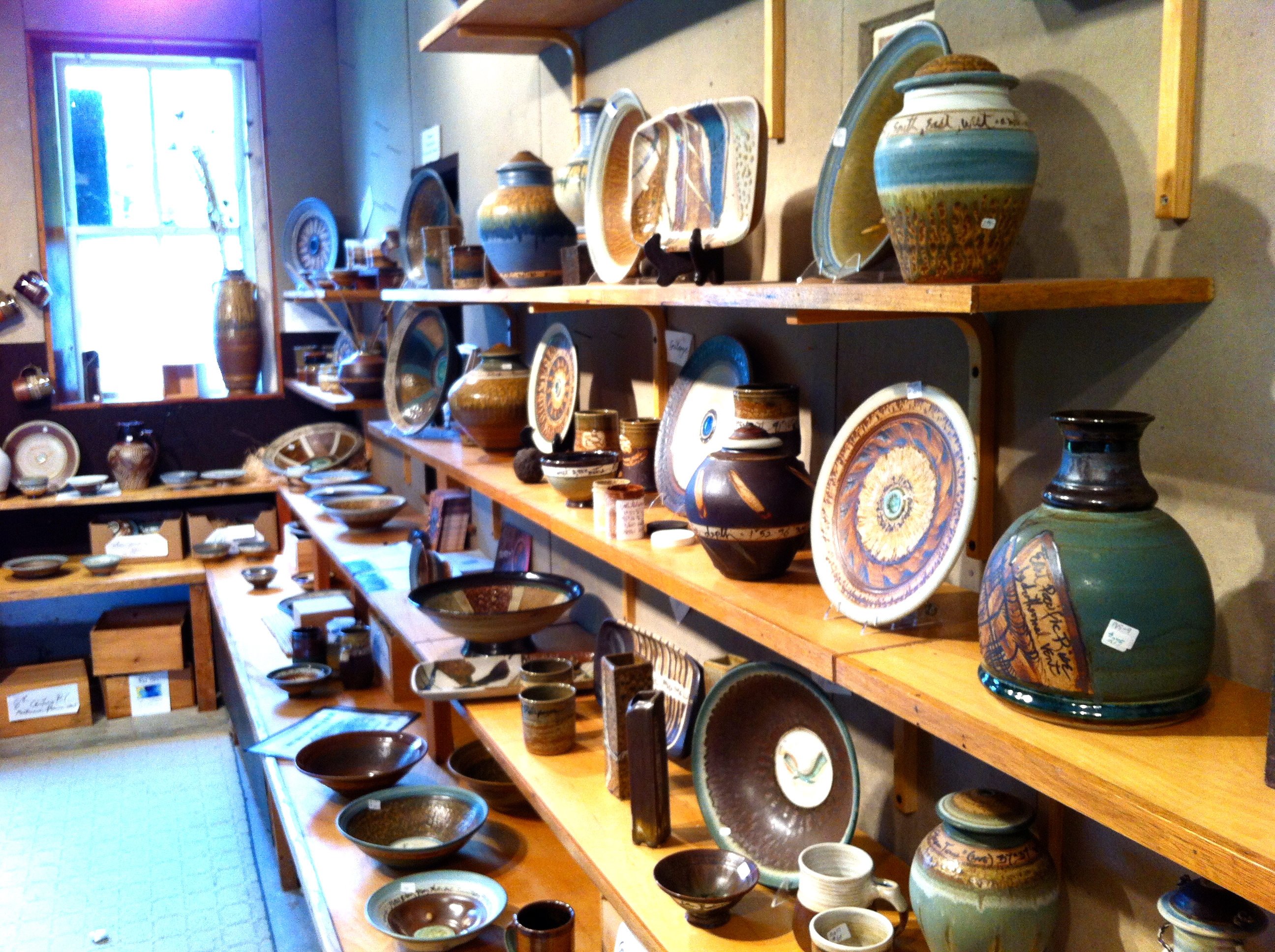 Pottery studio in Woods Hole
