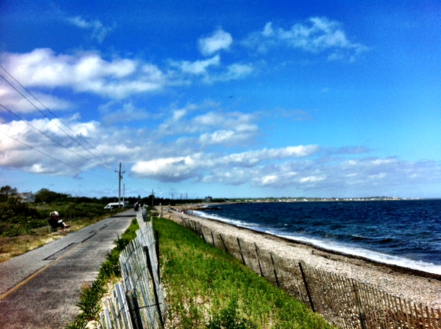 Puffy clouds on a cool June day in Woods Hole.