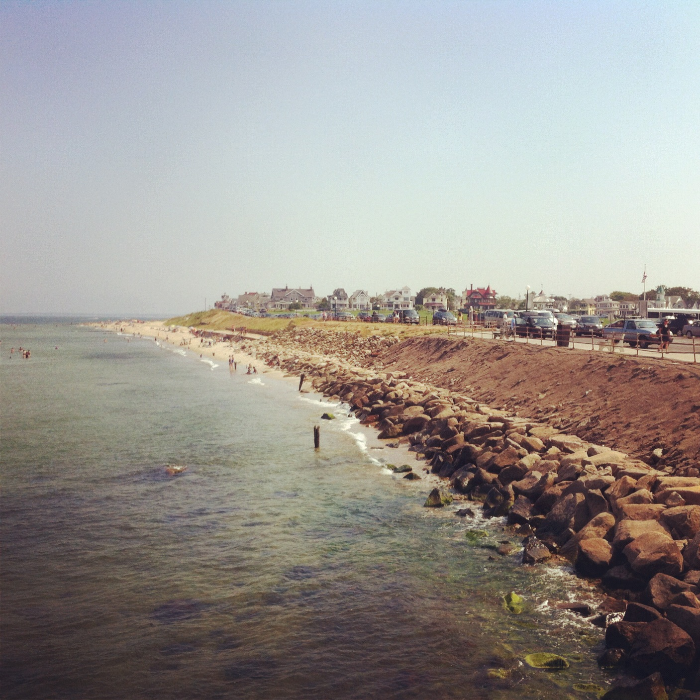 You don't have to go far to find the beach on Martha's Vineyard.