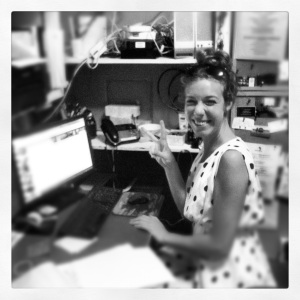 Glamour and answering the phone are all in a days work for Megan Jensen, the Woods Hole Inn's summer intern.