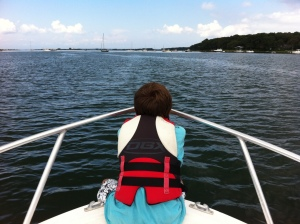 Summer visit to Marthas Vineyard by boat
